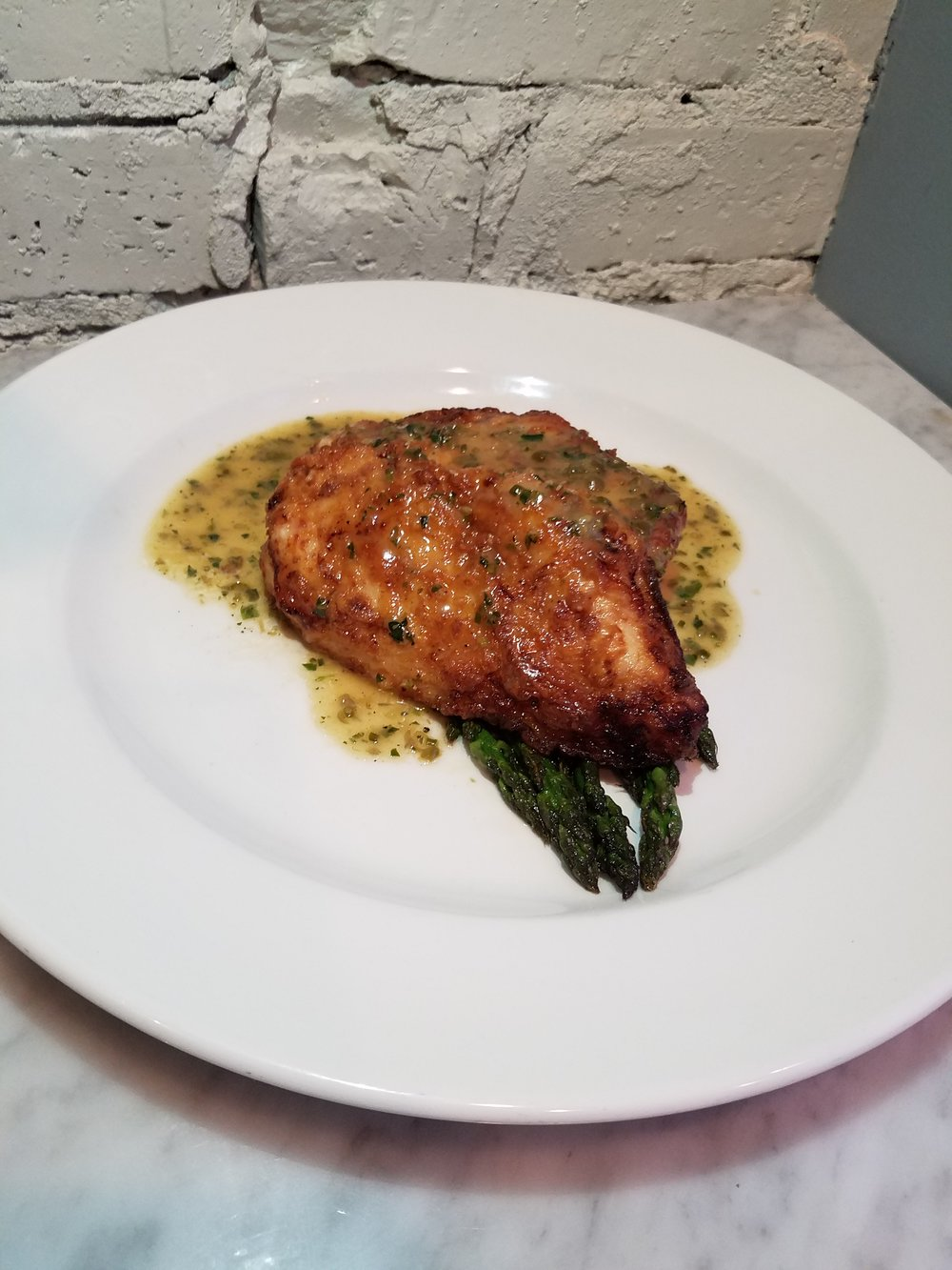 TUESDAYSChicken Piccata - With Seasonal Vegetable
