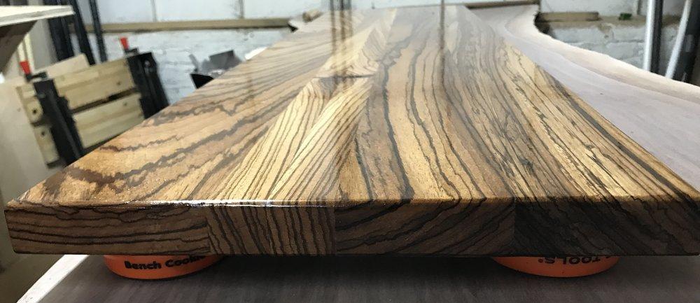 Exotic Zebrawood Table