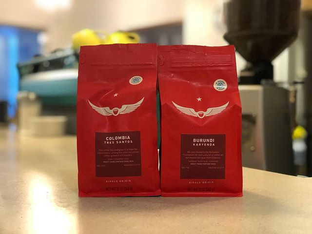 "Fresh retail bags from @intelligentsiacoffee - been getting these since the blue/yellow ""I Pot"" days. Also it was pointed out to us that we turned 13yo this week. That's a lotta coffees."