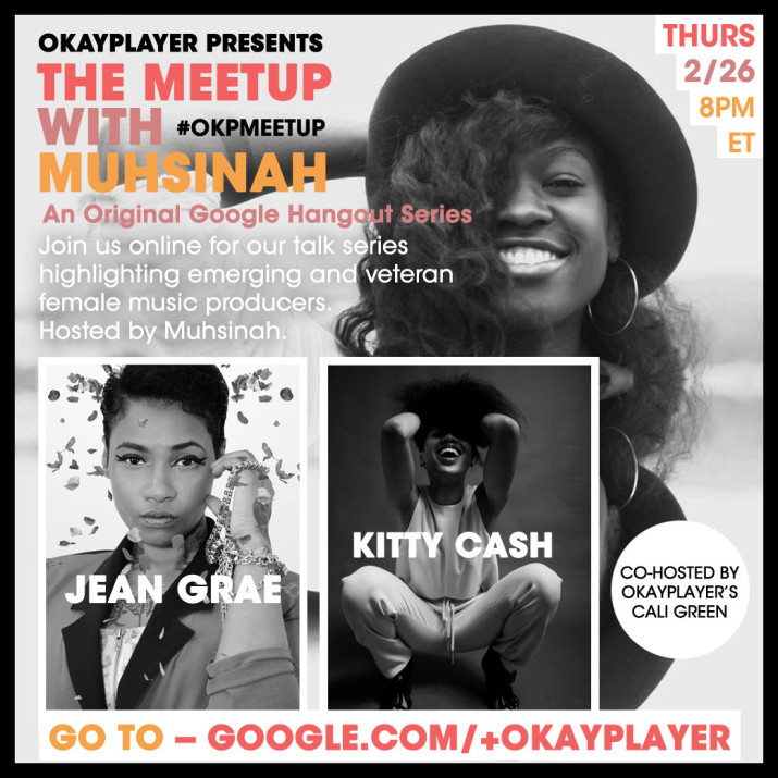 JOIN ME +JEAN GRAE + CALI GREEN AT 8PM… GO TO: GOOGLE.COM/+OKAYPLAYER
