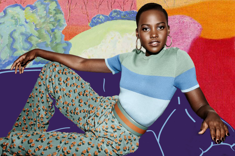 pink-variegated: Lupita Nyong'o for Elle France, July 2014 (x) x Milton Avery collage (x) & (x)