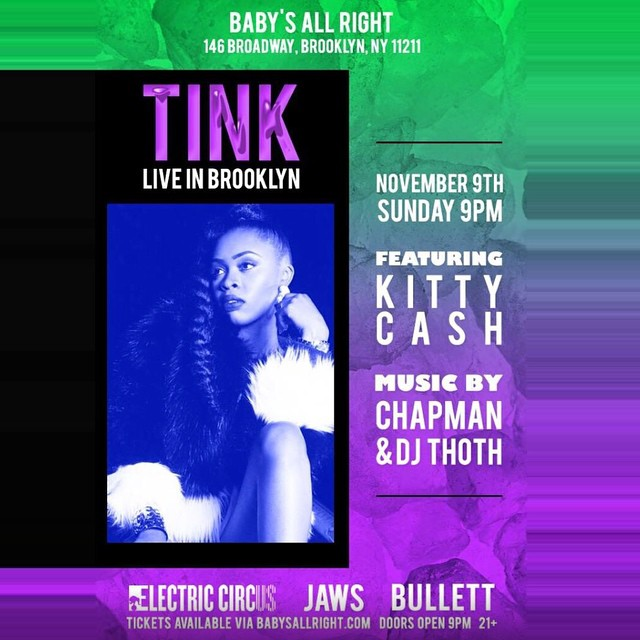It's going down!!!!  Kitty 😻x @official__tink tonight in Brooklyn…see you there 💥💥