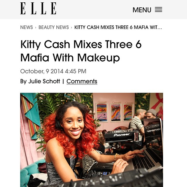 Check out me and my girl @julie_schott chat about my beauty tips and favorite song to get ready to on @elleusa 💥💥Meow 😻