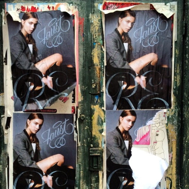 I spy @faustnewyork in Soho….  #streetart #faust