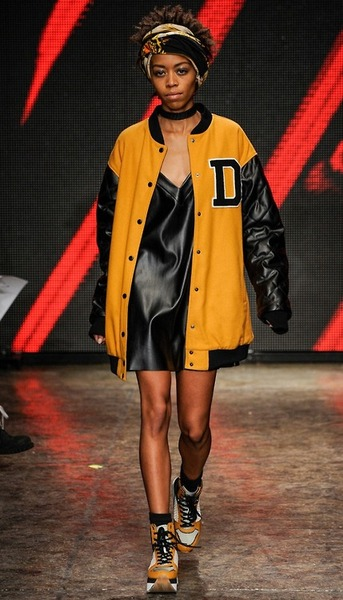 tomboybklyn :     our lil' homie Brandy Brown on the DKNY catwalk…