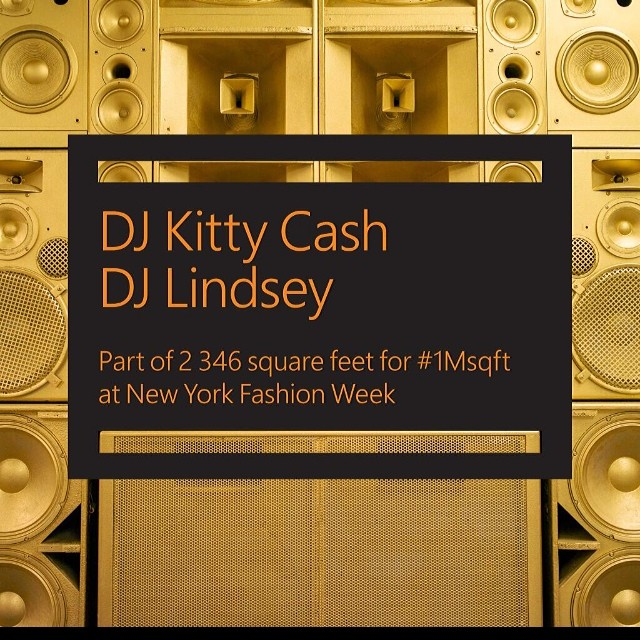 KITTY x @djlindsey !!!! We are going to shut it down tonight with @solange @saintrecords @saintrecords @1msqft #nyfw #1msqft