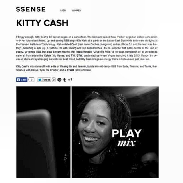 "Start your Monday off right and listen to my exclusive for  @ssense! ""Could It Be You"" Part II #meow #musicmonday #ssense"