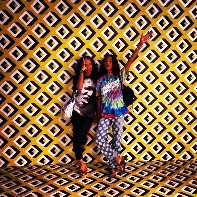 Reunited with @kishkilo and it feels soo good!! Love this @dvf exhibit #journeyofadress