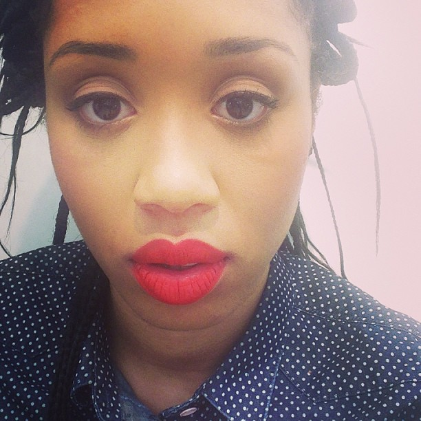 Make up is done! In love with this lip!! #poppy #freshone (at Joe Fresh)