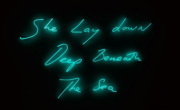 """She Lay Down Deep Beneath The Sea"" by Tracey Emin"