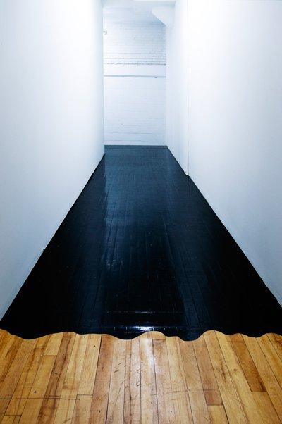 I'm staining my hardwood floors black… All black errrthang