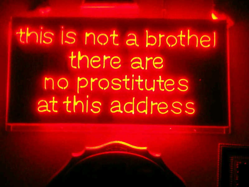 """Went out to club, """"MR. H"""" in NYC last night & this was the entrance sign … Why thank you Mr. H"""