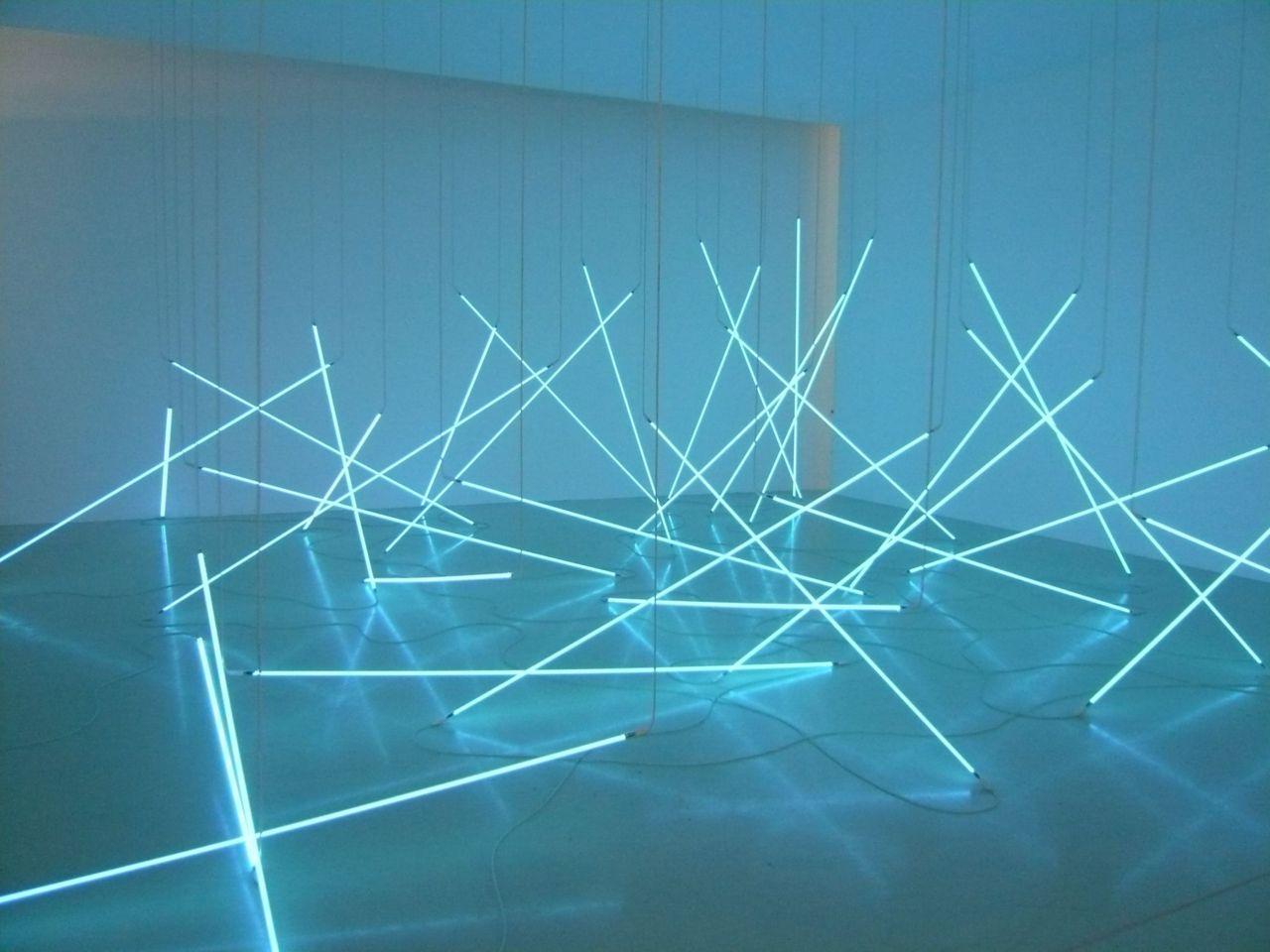 Inspiration: Light It Up   Art by Francois Morellet at Pompidou Center in Paris