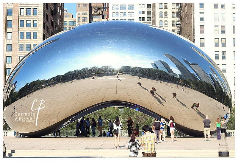 Cloud Gate. Chicago. I love the reflection of the skyscrapers.