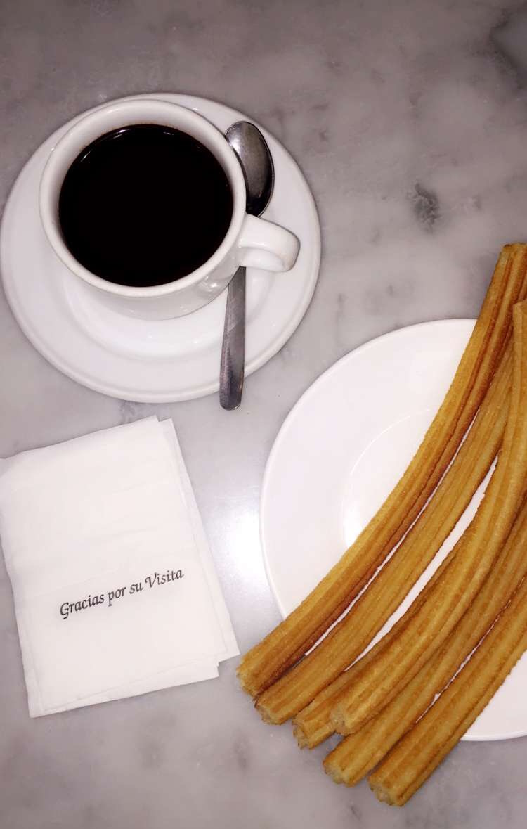 We tried the Churros dipped in deliciously bitter (and sweet!) dark chocolate.