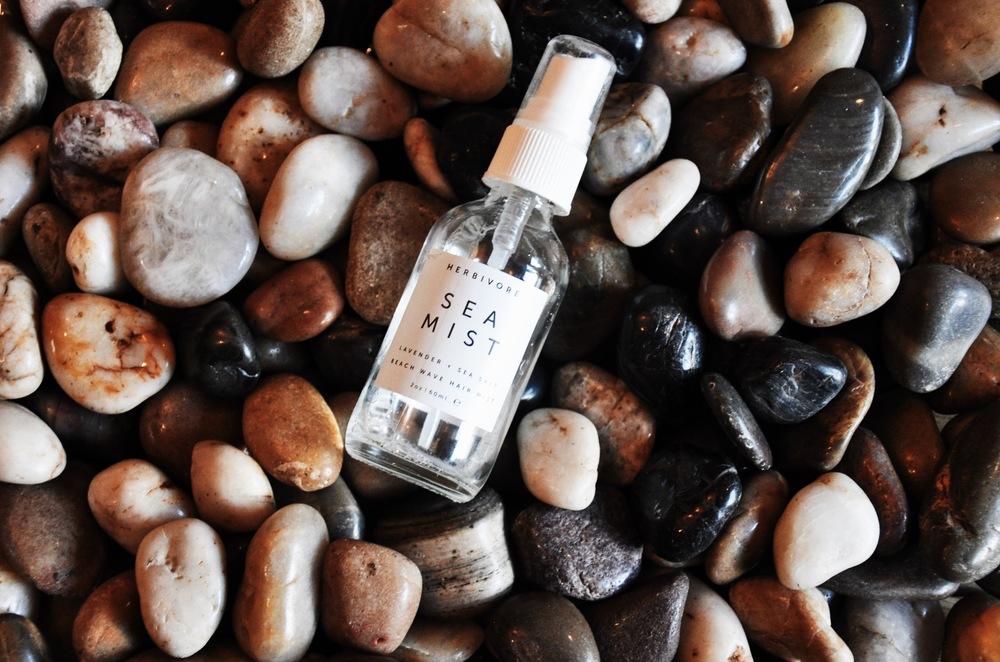 """Lavender & Sea Salt """"Sea Mist"""" hair spritz by Herbivore Botanicals."""