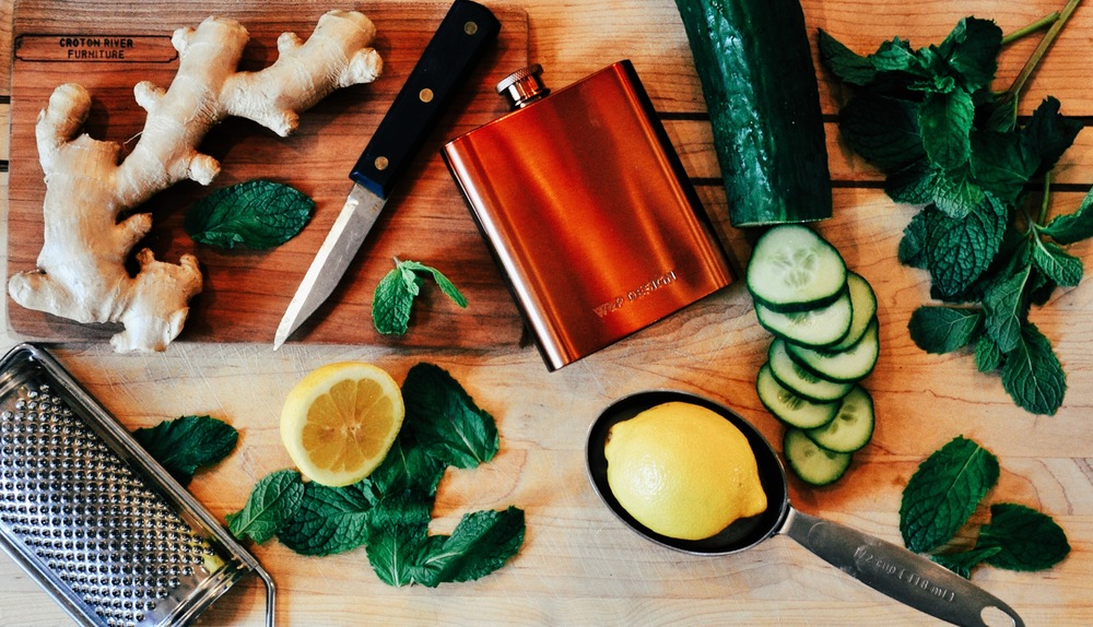 Flattlay of Ingredients for ZYDE Detox Juice