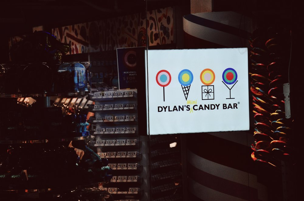 Entrance vibes at the Dylan's (mini) Candy Bar.