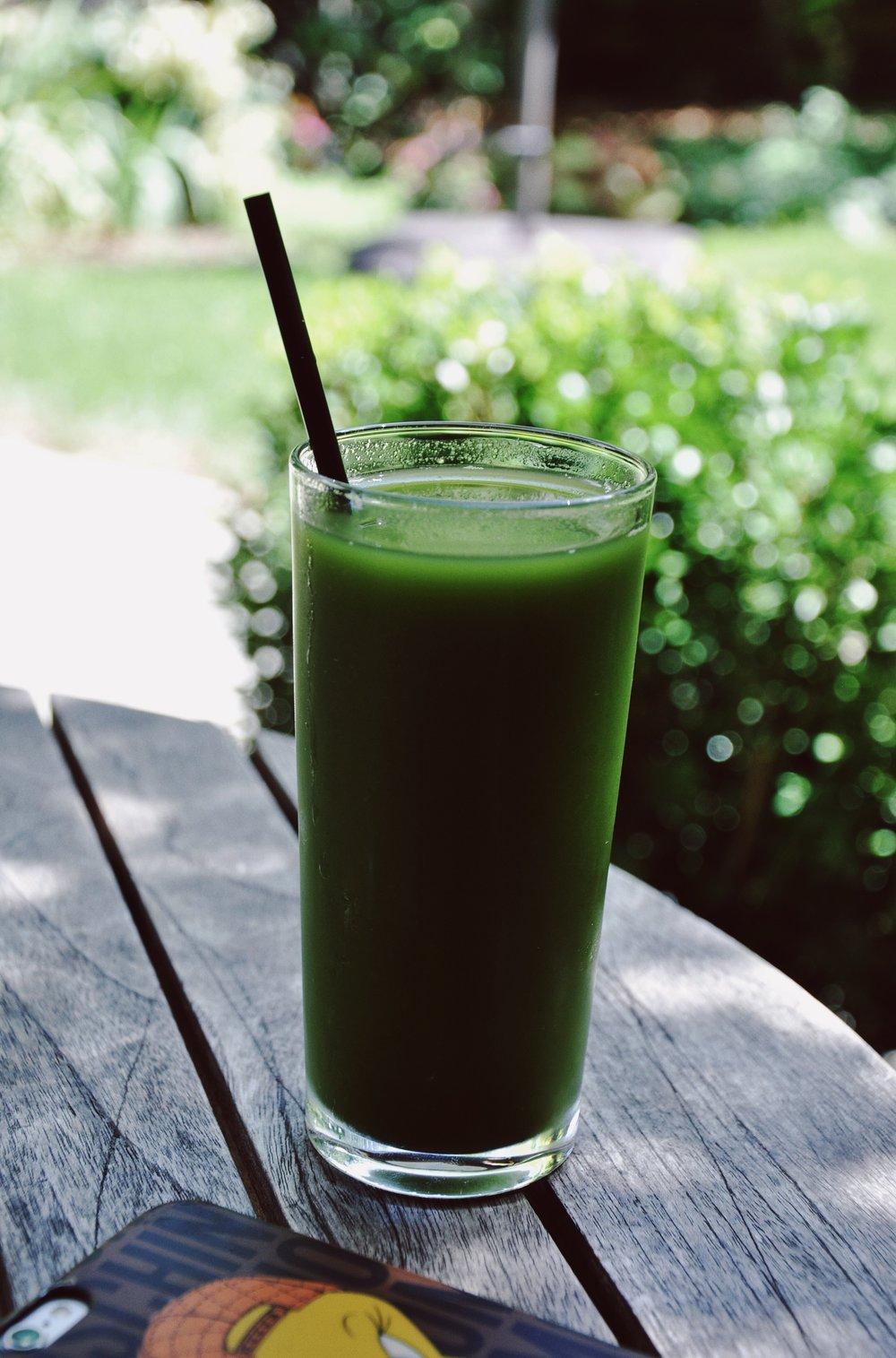 Green juice yumminess at  The Barn .