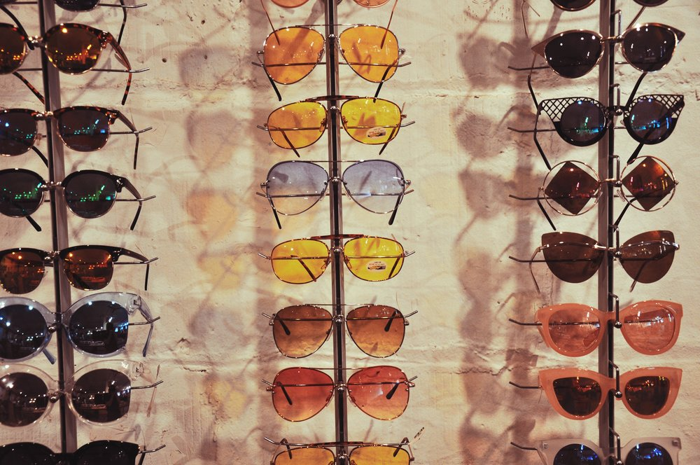 View of some of their sunnies collection.