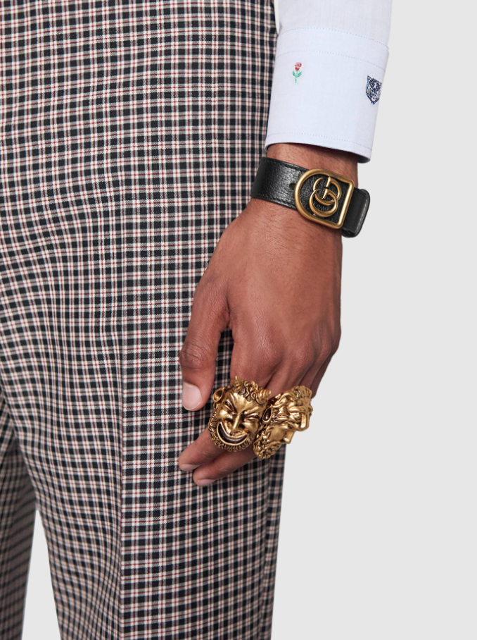 Gods Rings and GG Leather Bracelet