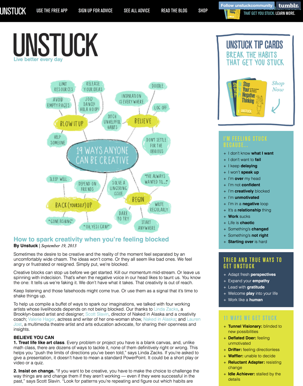 Unstuck — How to spark creativity when you're feeling....jpg