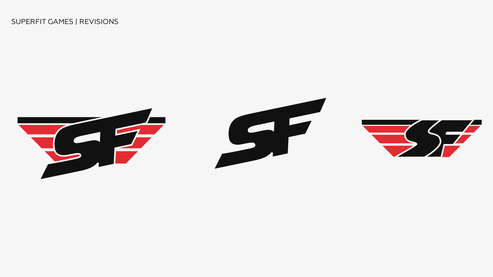 SuperFit Games Logo Revisions