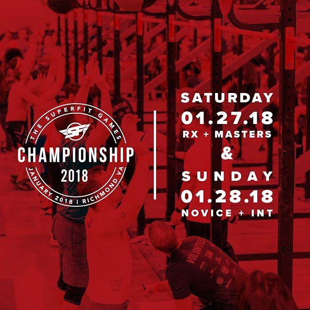 GOOD LUCK to everyone competing at #SFChamp18 this weekend!  @superfitgames  @cfarnz  @supercleary