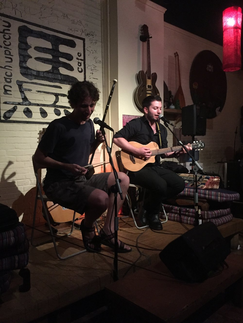 AUGUST   Moran Rozenszajn and Dror Ne'eman, Jam String Quartet, & Jah Bar Owner, Lao Li 老李