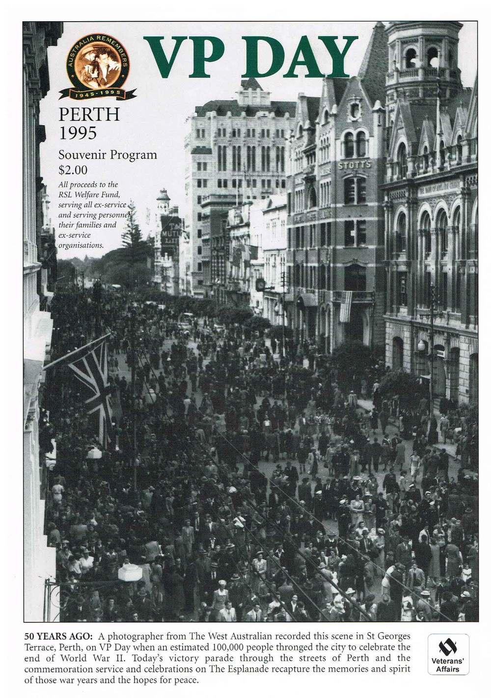 VP Day : Perth 1995 Souvenir program City of Perth