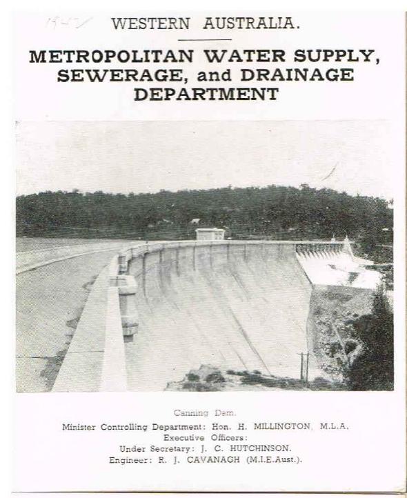 Metropolitan Water Supply, Sewerage and Drainage Department (series) Perth Water