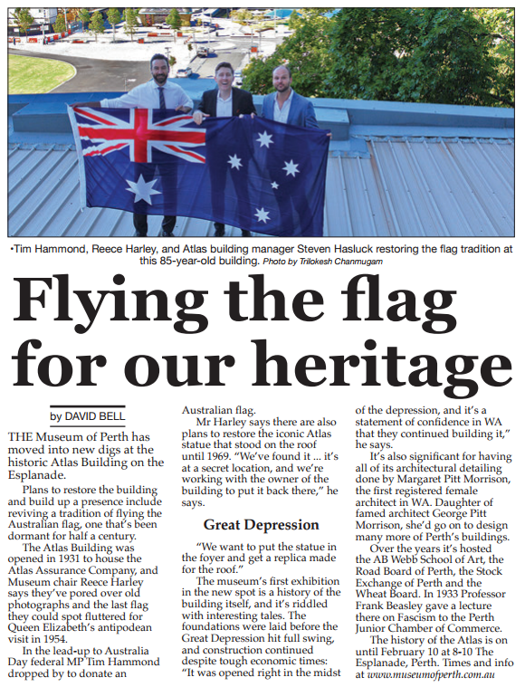 Original link :  https://perthvoiceinteractive.com/2017/01/27/flying-the-flag-for-our-heritage/