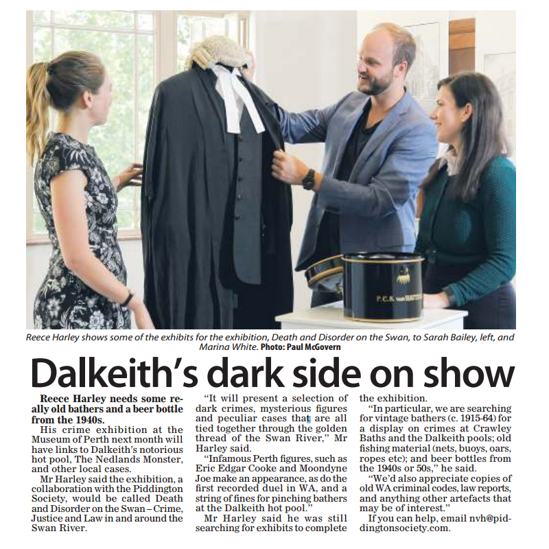 """Dalkeith's dark side on show"" - Post Newspapers 18 February 2017"