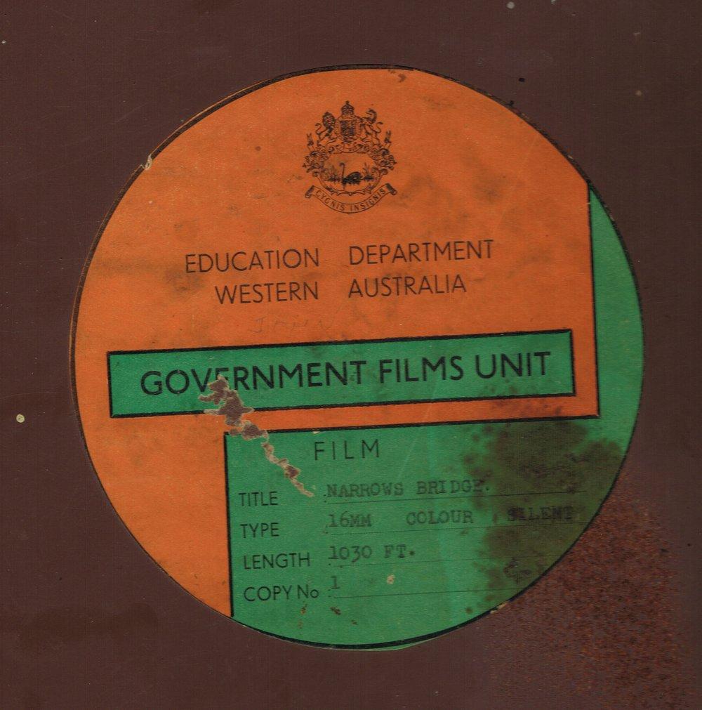 Narrows Bridge Education Department Western Australia : Government Films Unit