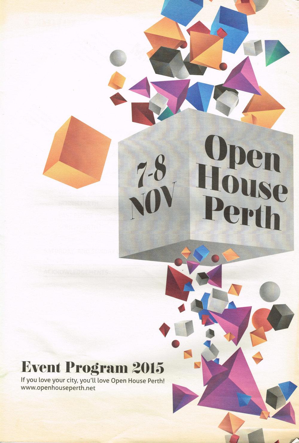 Open House Perth 7-8 Nov : Event Program 2015  Open House Perth