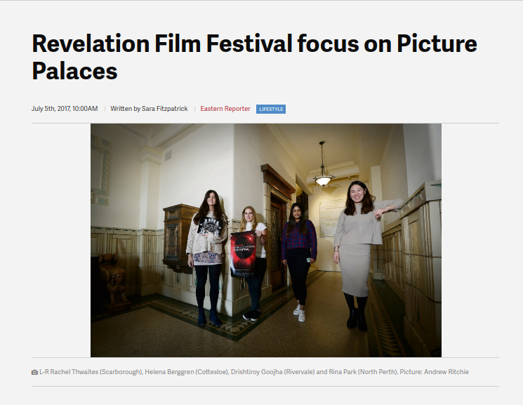 """Revelation Film Festival focus on Picture Palaces"" - 5 July 2017"