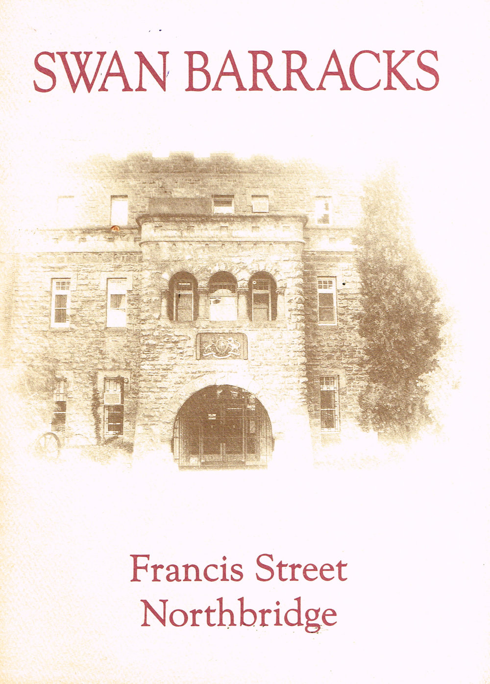 Swan Barracks, Francis Street Northbridge   Compiled by 5MDPR and Australian Army, 5th Military District Public Relations