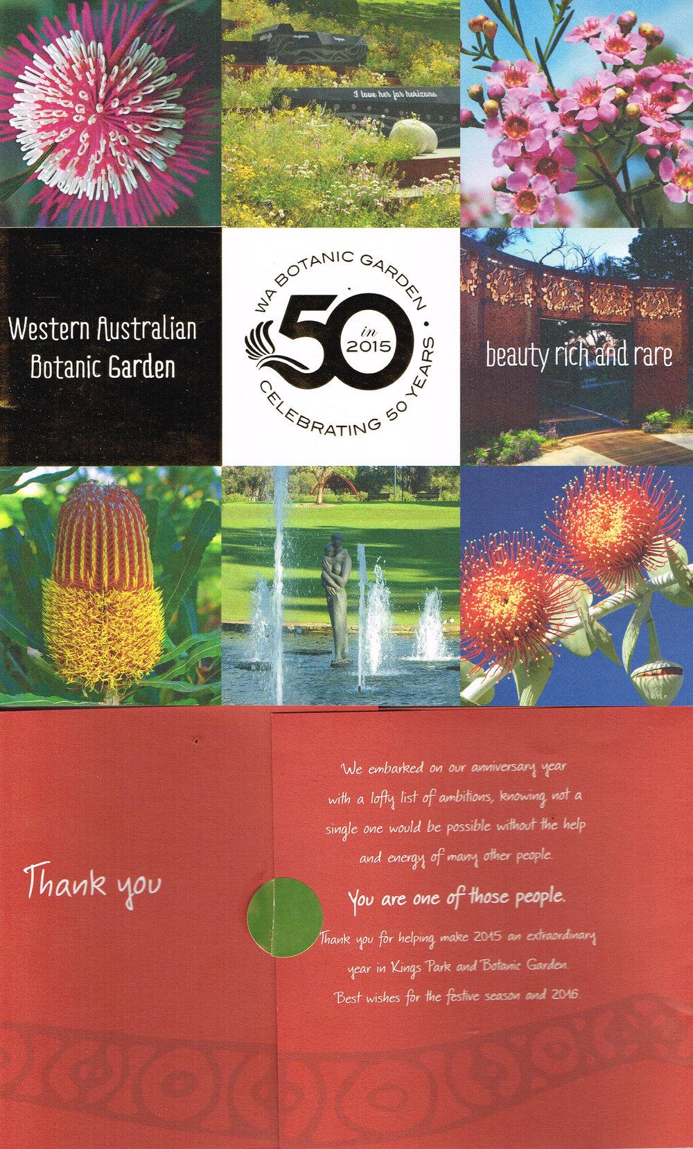 Western Australian Botanic Garden : WA Botanic Garden Celebrating 50 Years   Government of Western Australia and Kings Park & Botanic Garden, Botanic Gardens & Parks Authority