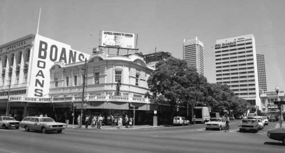 Forrest Place roadway, 1973. (Supplied: ABC)