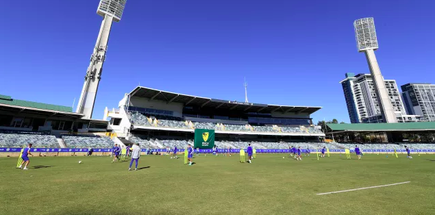 English Premier League team Chelsea Football Club in Perth at the WACA, 20 July 2018, training prior to their match again Perth Glory Football Club the next day. (Supplied: chelseafc.com)