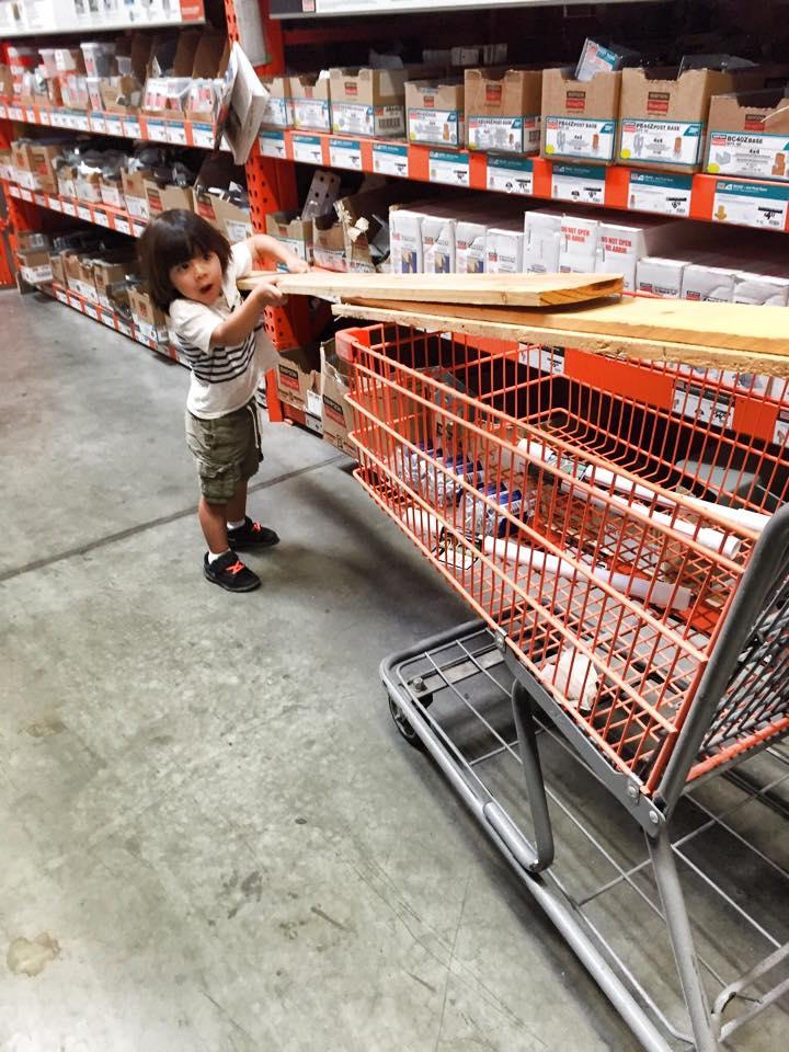 My little eager helper