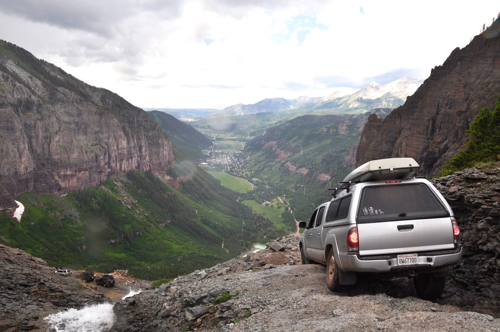 Black Bear Pass from Ouray to Telluride, Colorado. July 2015