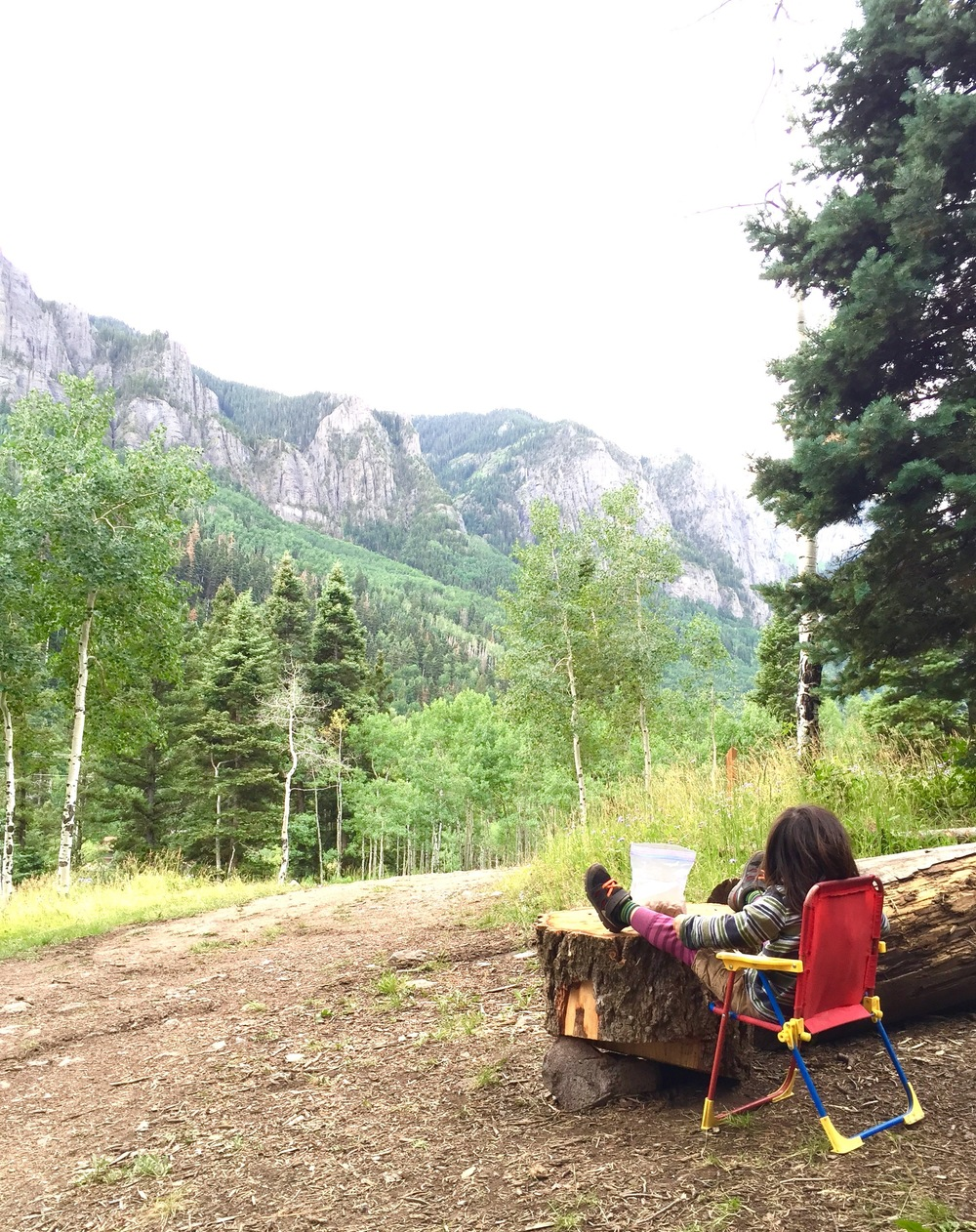 Just Kickin' It. Angel Creek Campgrounds, Ouray, Colorado July 2015