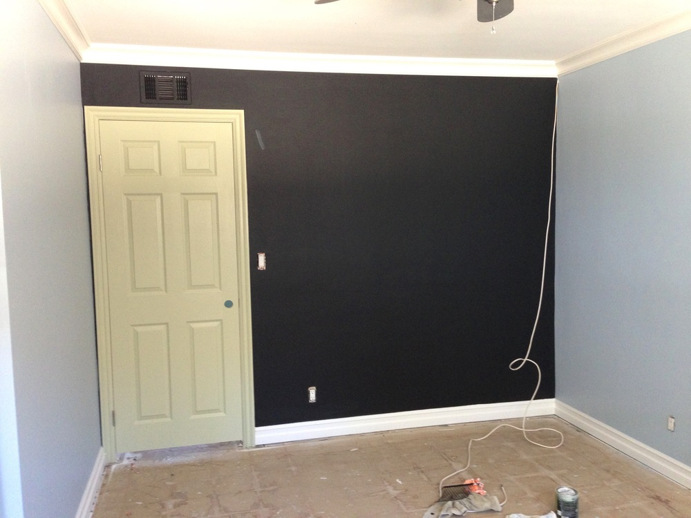 BM Black Chalkboard Paint,  F&B Cooking Apple Green  Door