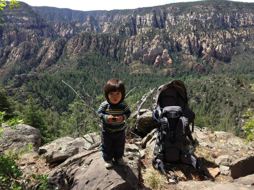 Kyan, 15 months old, on top Telephone Trail, Sedona, Arizona
