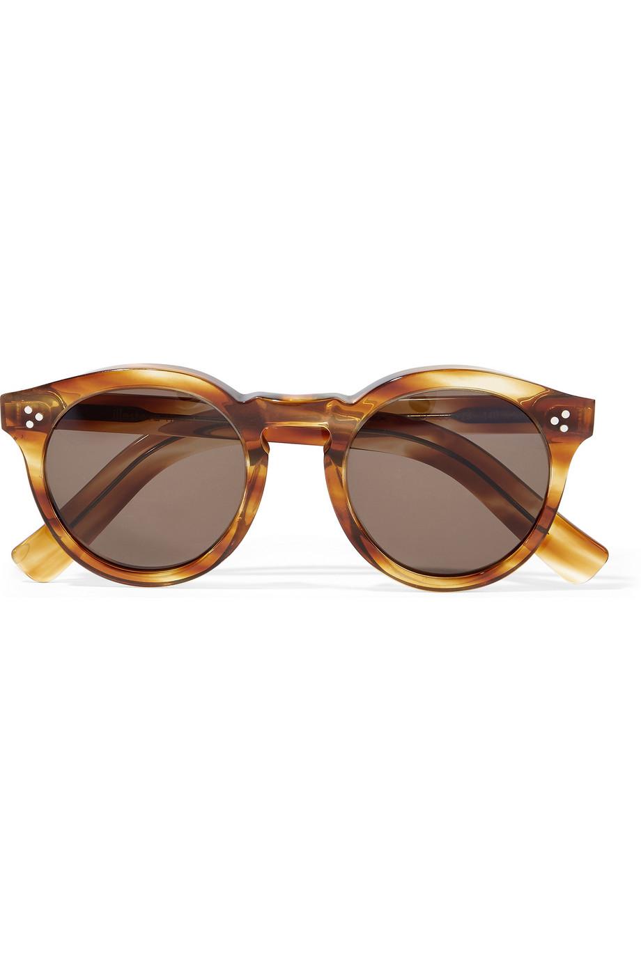 ILLESTEVA Leonard II round-frame acetate sunglasses$290