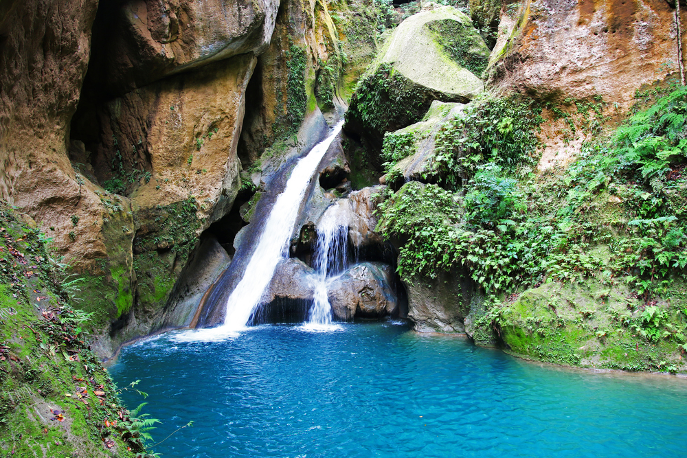 Bassin Bleu Waterfall