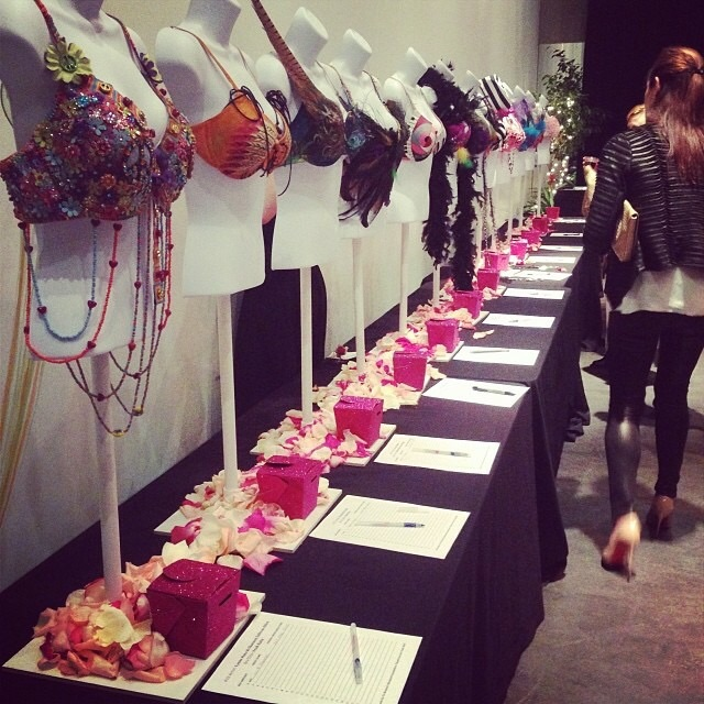 2013 bras from the BUST Breast Cancer event.