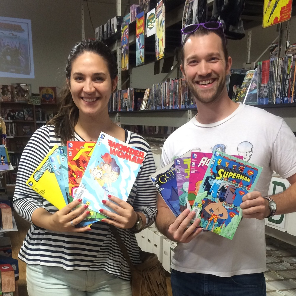 Emerald City Comic contest winners,?Grace and Chase aka Supes and Dubdub