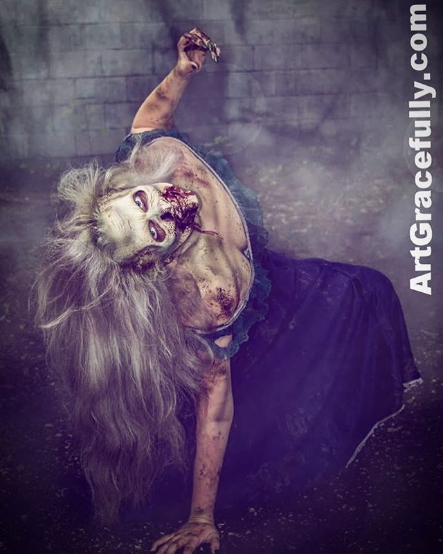 One of my favorite little monsters! 🤗🧟♀️ #ArtGracefully #monster #13thGate #HauntedHouse #SFX #Makeup #zombie @travelcreep still pretty! 😁